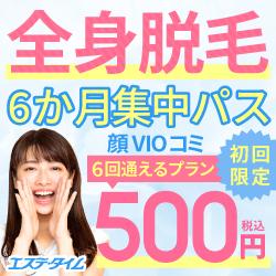 両ワキ+Vライン脱毛 100円(税込)