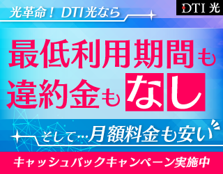 【DTI 光】光回線のインターネット接続サービス